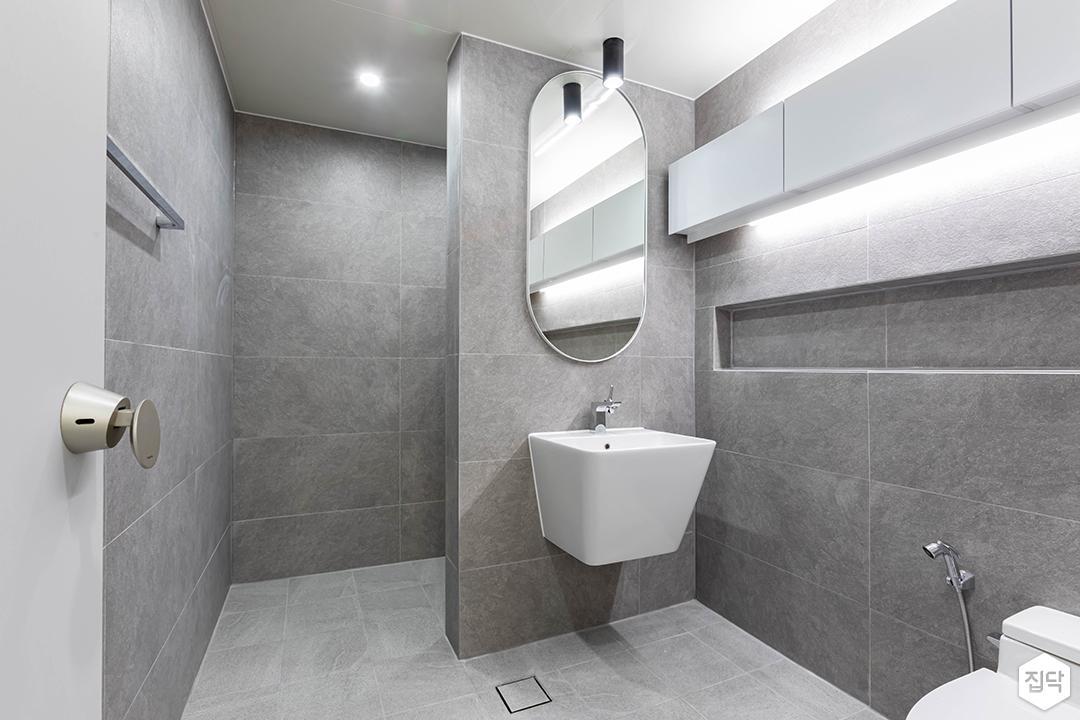 그레이,모던,욕실,포세린,세면대,거울