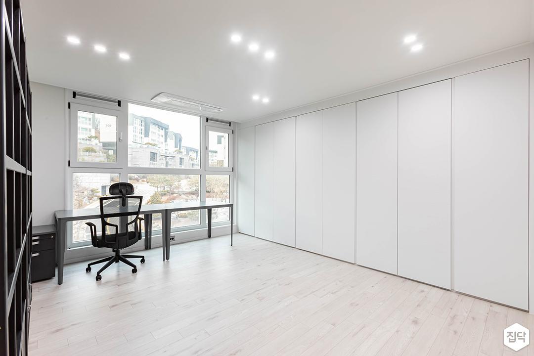 화이트,모던,방,서재,책상