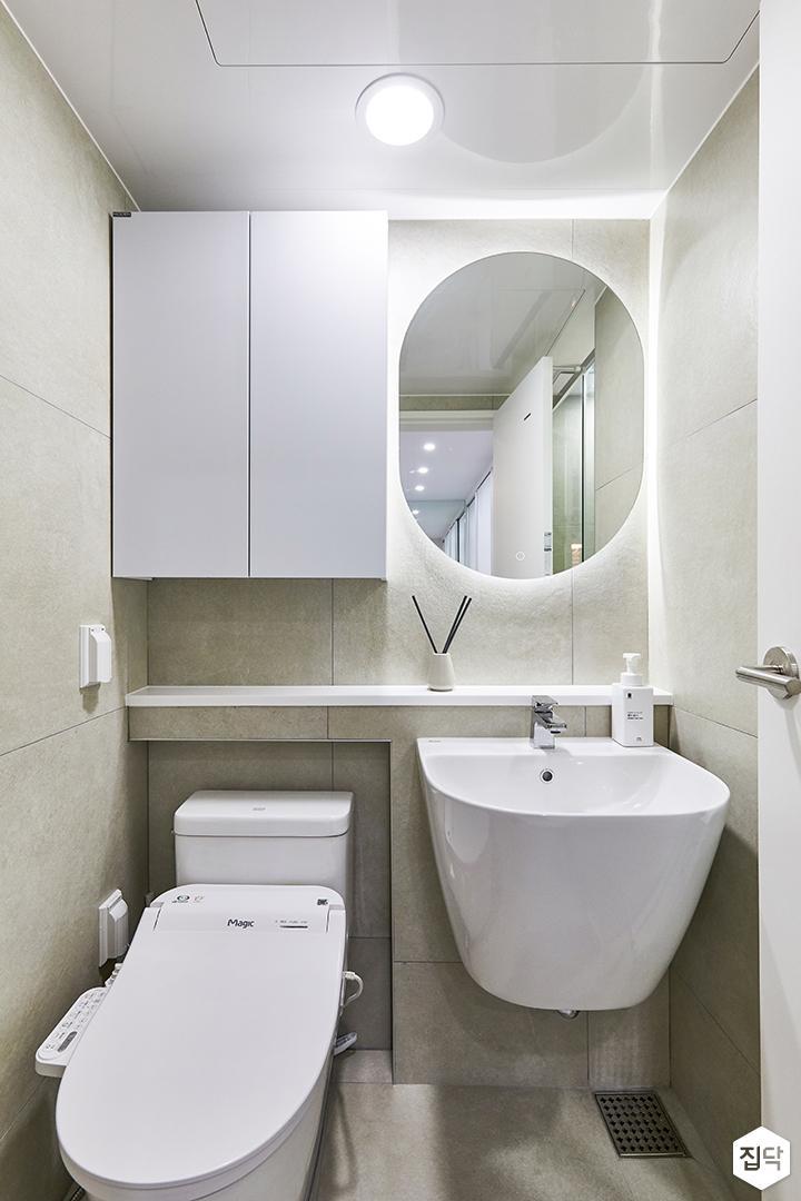 화이트,아이보리,모던,내추럴,뉴클래식,욕실,포세린,매립등,간접조명,수납장,세면대,거울