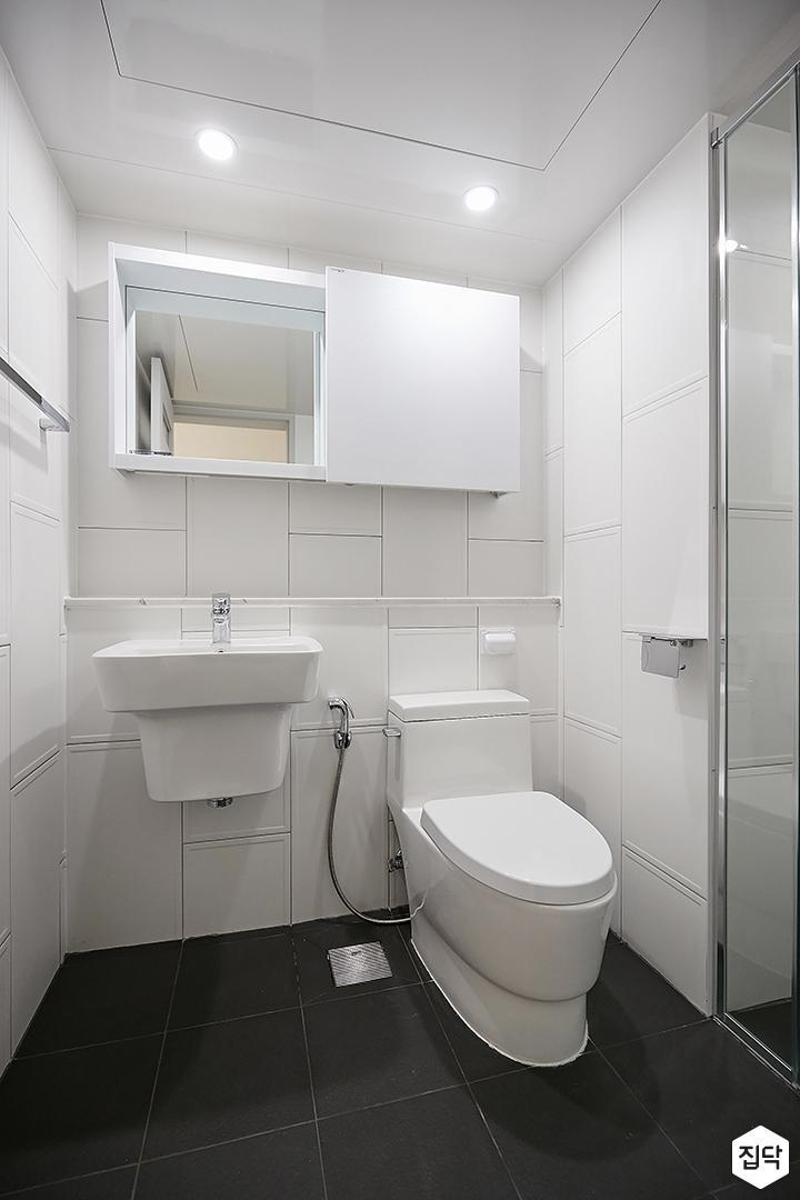 화이트,블랙,모던,욕실,세면대
