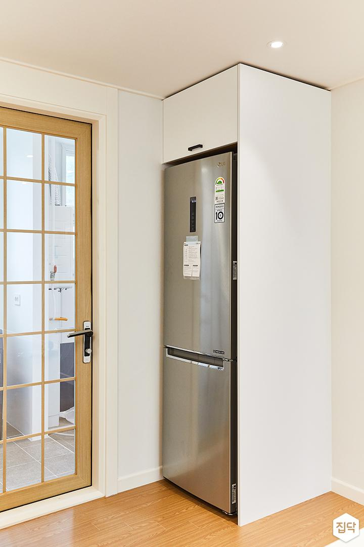 화이트,모던,뉴클래식,주방,냉장고장