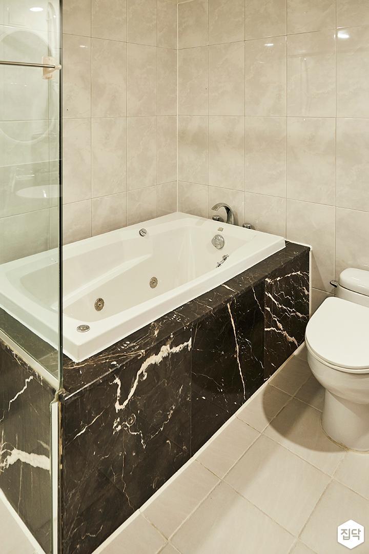 뉴클래식,욕실,패턴타일,욕조
