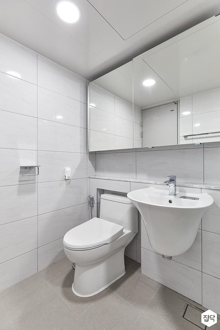 화이트,심플,욕실,포세린,매립등,수납장,세면대,거울