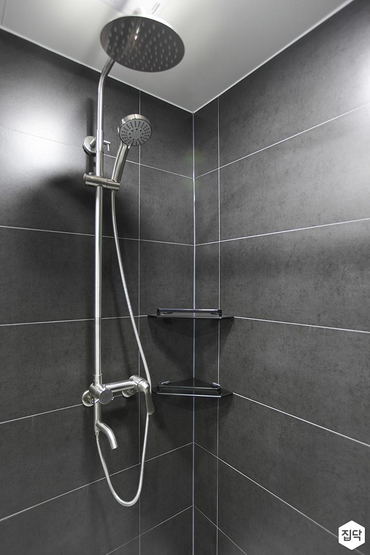 블랙,모던,뉴클래식,욕실,포세린,샤워기