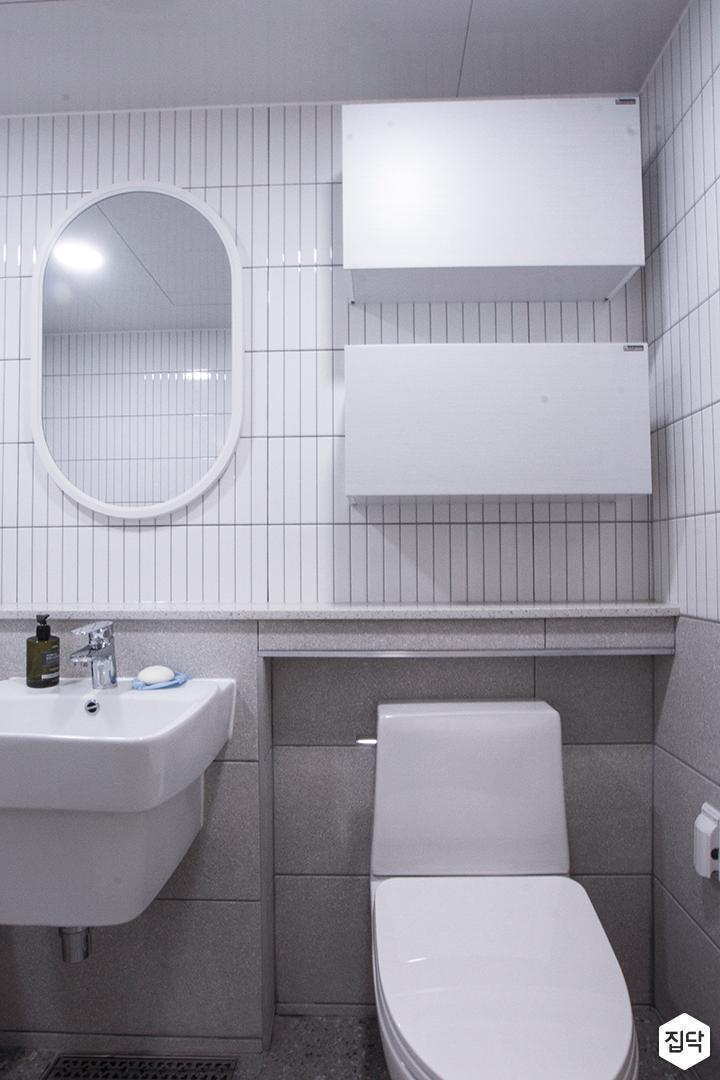 화이트,그레이,모던,욕실,세면대,거울