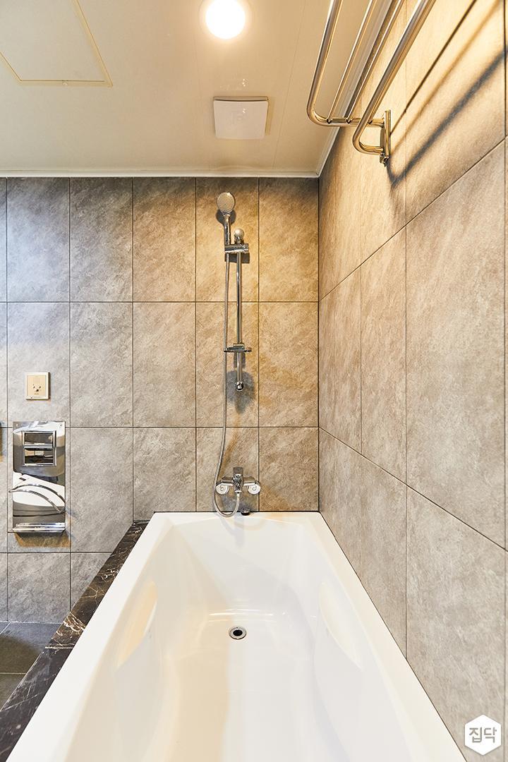 그레이,모던,빈티지,욕실,포세린,매립등,욕조,샤워기