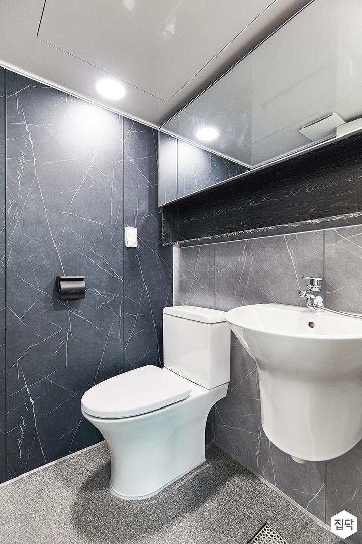 블랙,그레이,미니멀,심플,욕실,세면대,수납장,거울