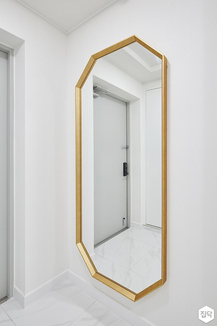 화이트,골드,럭셔리,심플,현관,거울