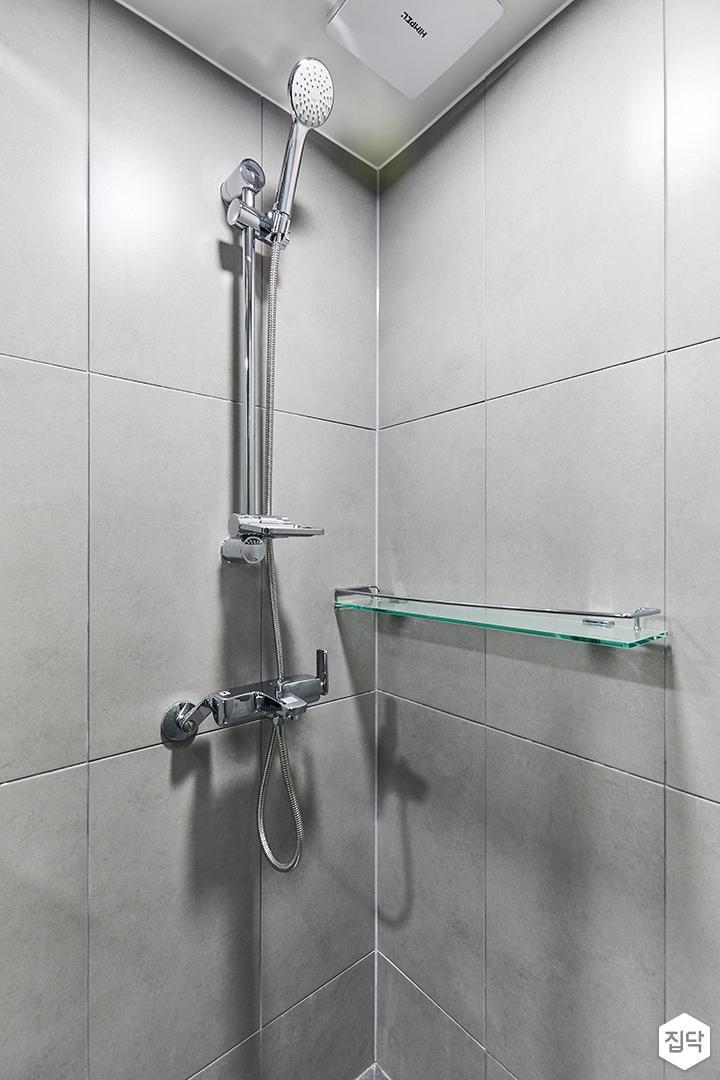 그레이,모던,심플,욕실,포세린,샤워기