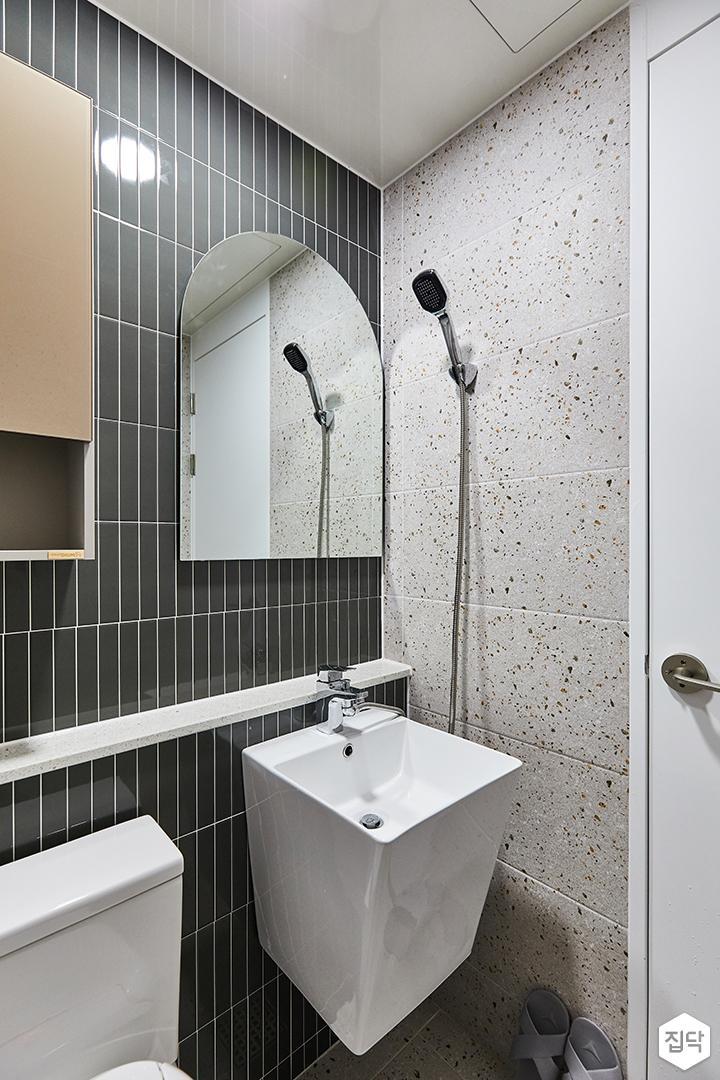그레이,블랙,모던,내추럴,욕실,포세린,테라조,세면대,거울