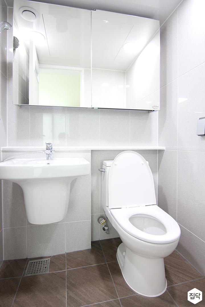 화이트,욕실,세면대,거울