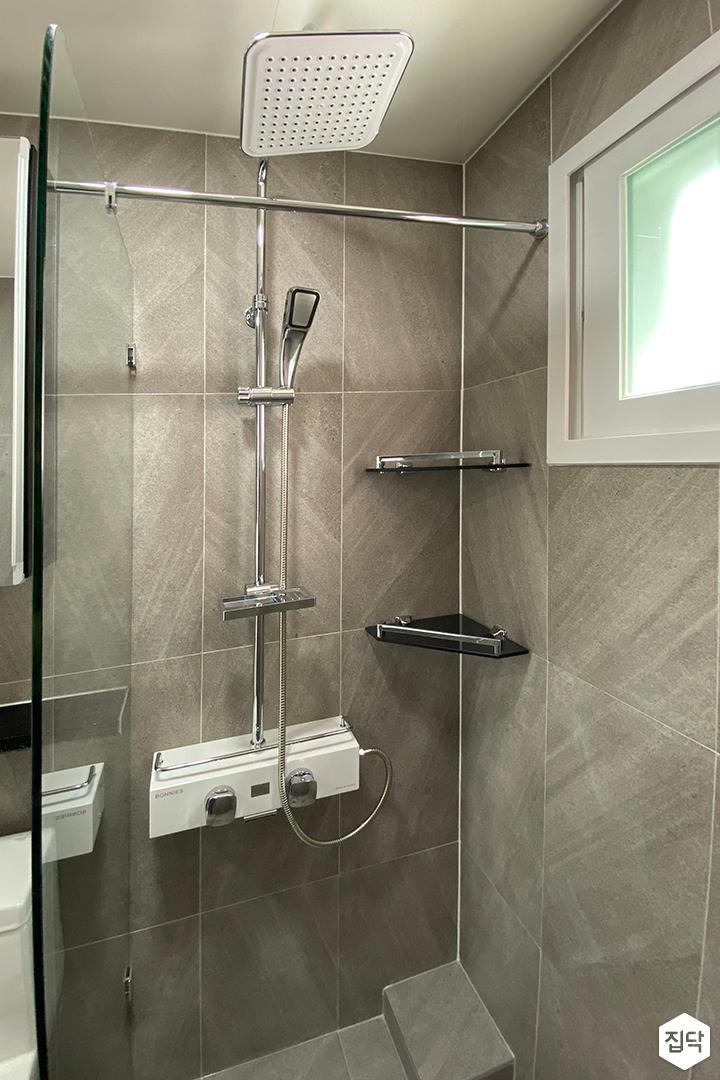 그레이,모던,욕실,샤워기