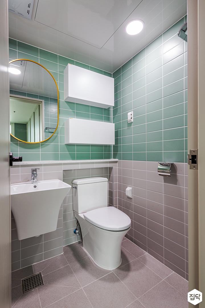 그린,그레이,모던,욕실,세면대,거울