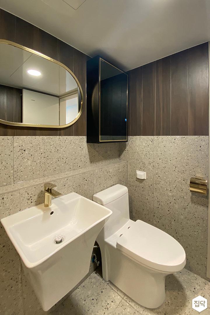 그레이,브라운,모던,욕실,세면대,거울
