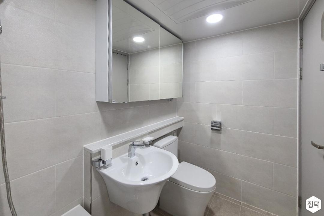 화이트,모던,욕실,세면대,거울