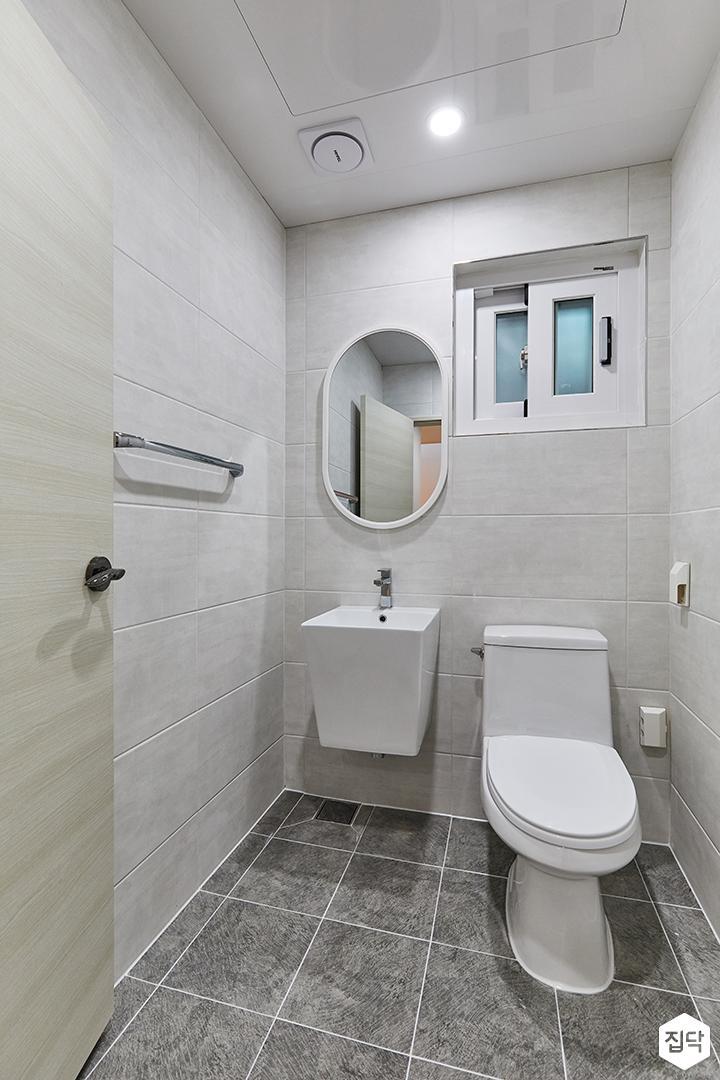 화이트,그레이,미니멀,심플,욕실,거울,세면대