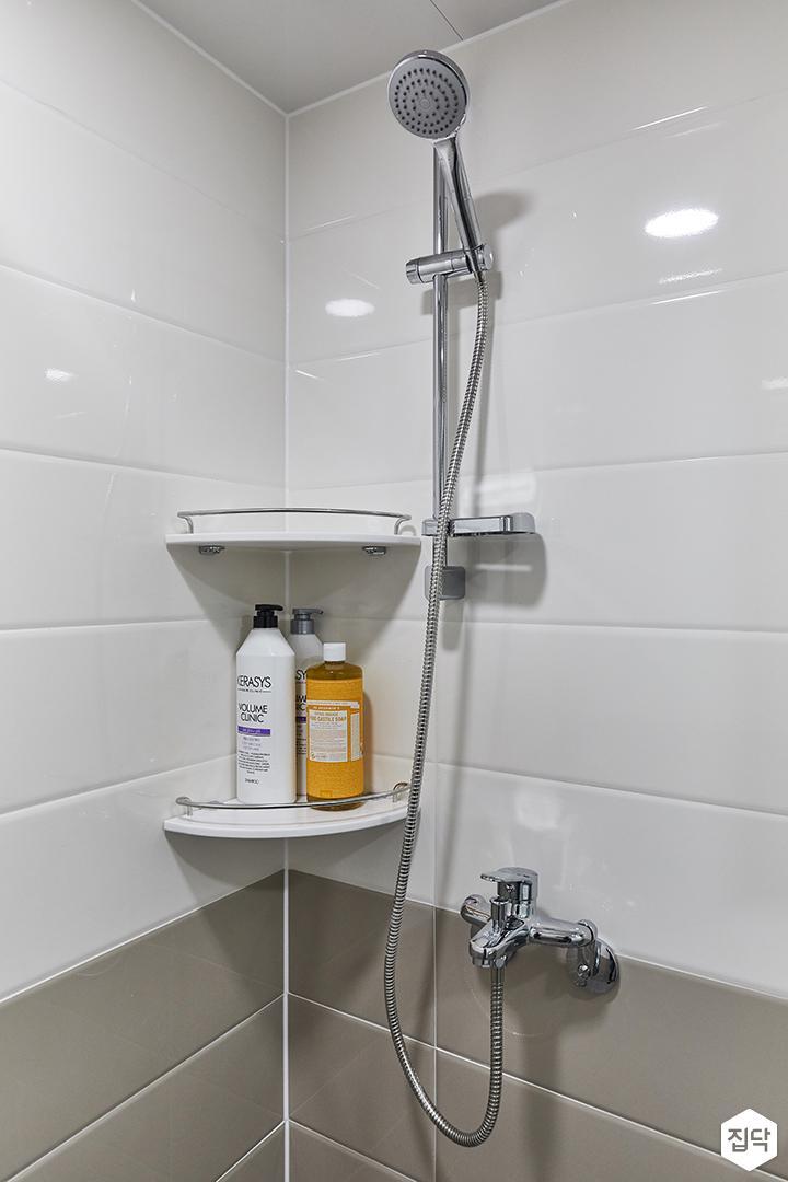 화이트,그레이,미니멀,심플,욕실,샤워기