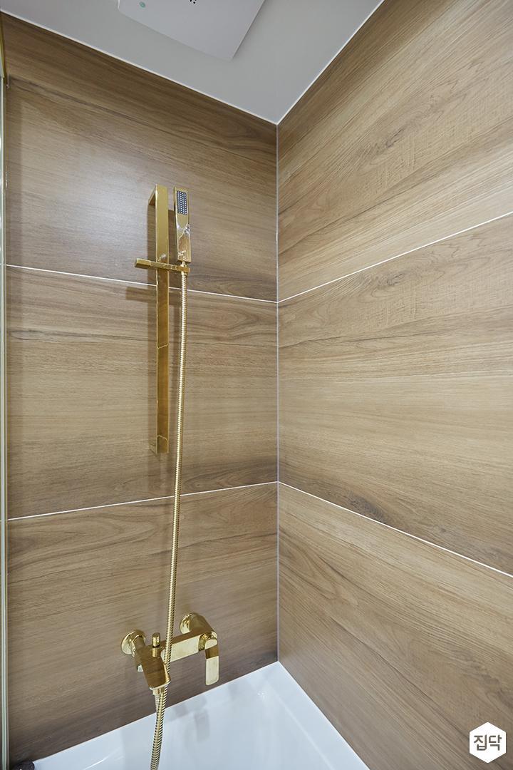 브라운,골드,모던,심플,욕실,샤워기