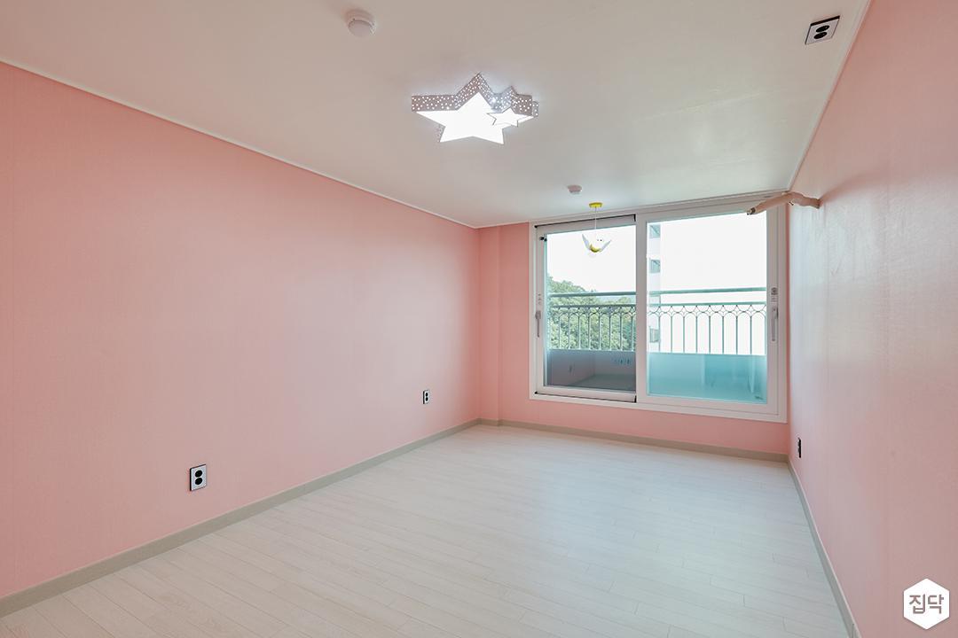 핑크,모던,심플,아이방,방,실링라이트