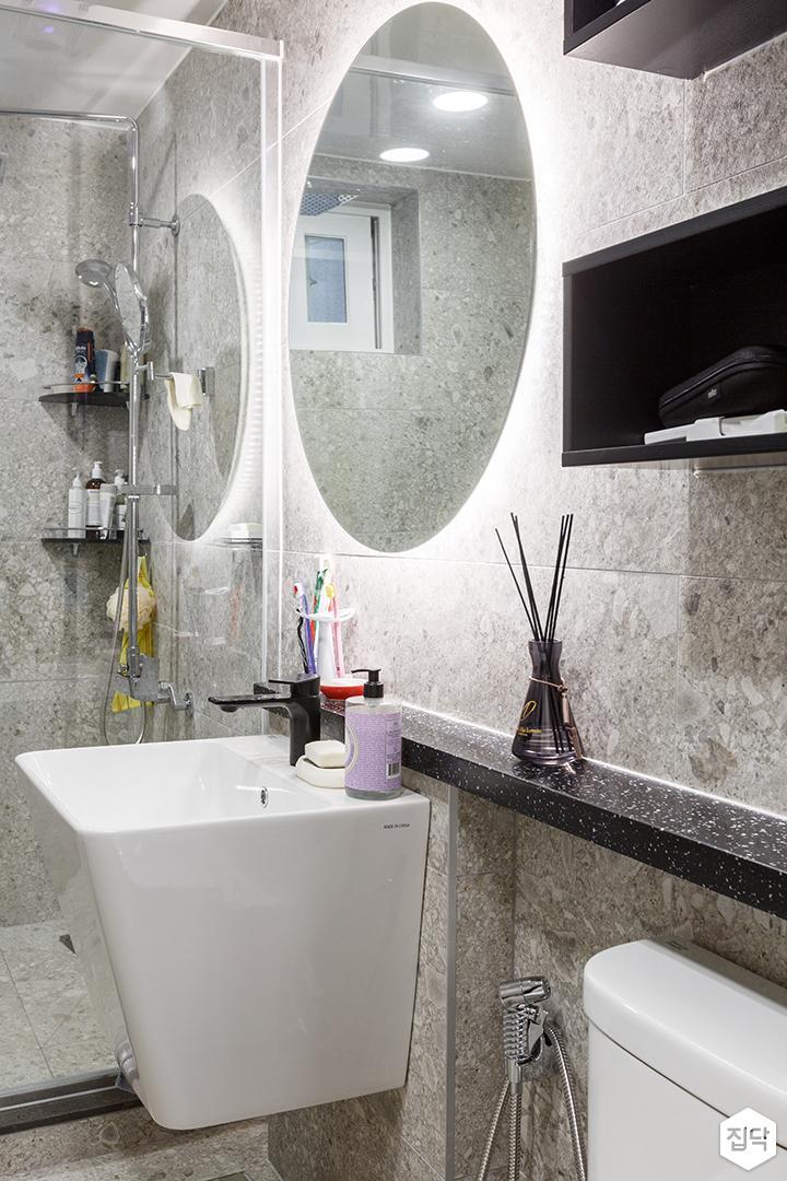 욕실,모던,세면대,거울