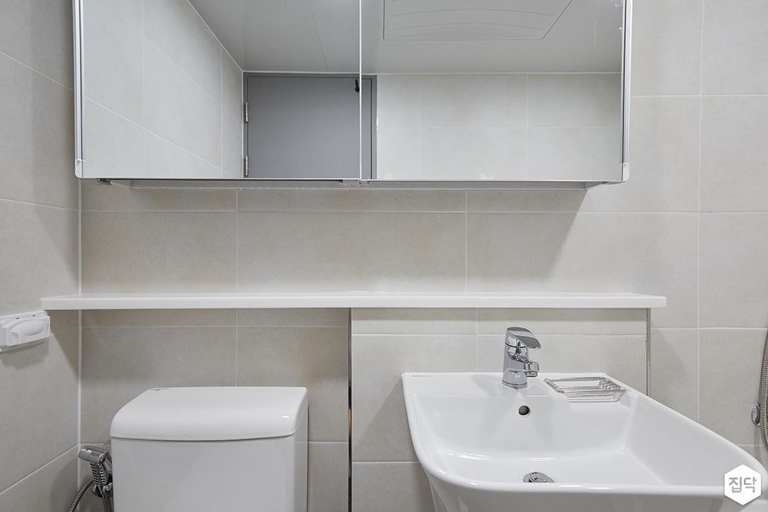 화이트,모던,심플,욕실,수납장,세면대,거울