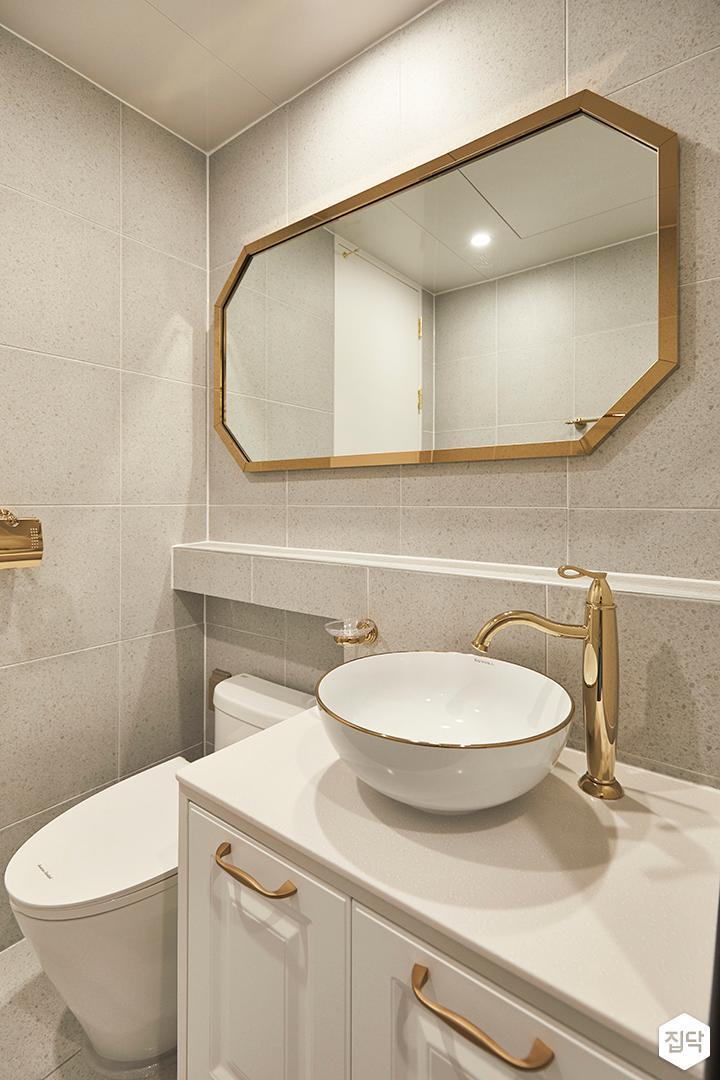 그레이,모던,심플,욕실,세면대,거울