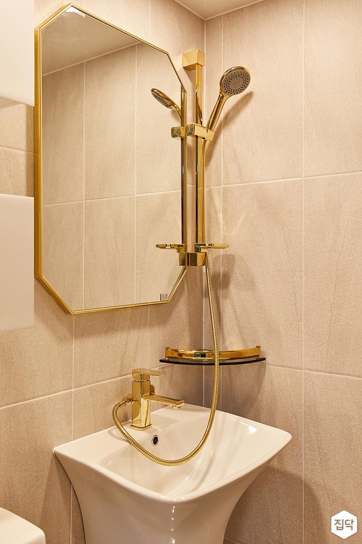 아이보리,골드,모던,내추럴,욕실,포세린,세면대,거울