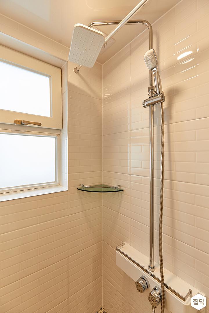 화이트,모던,내추럴,욕실,샤워기