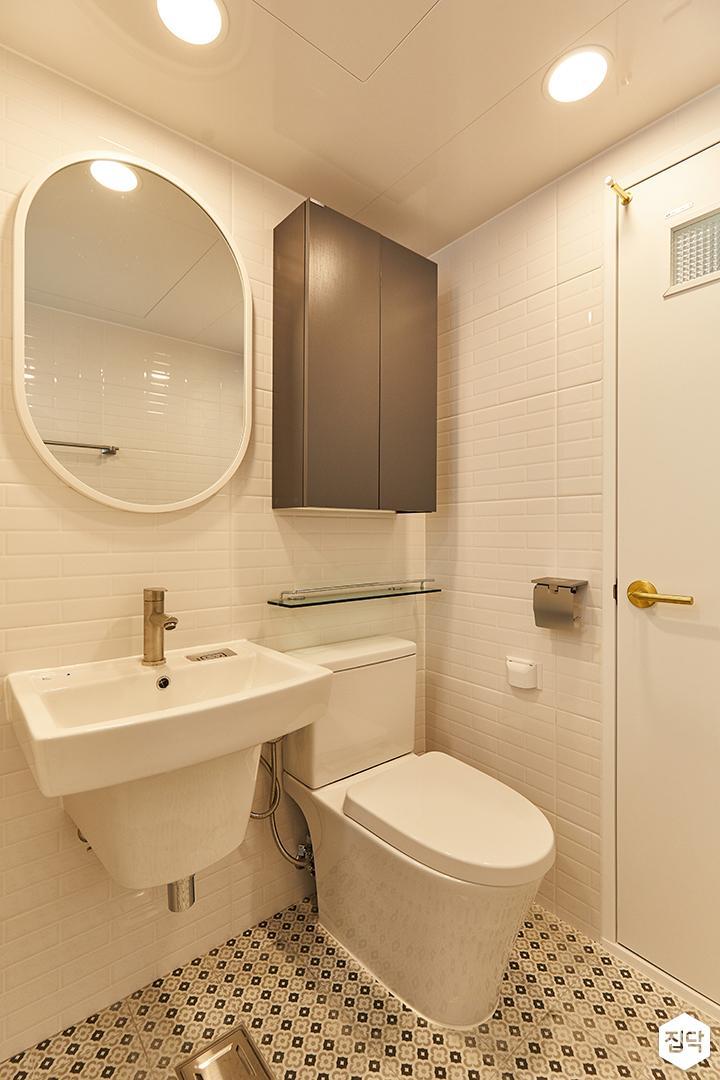화이트,모던,내추럴,욕실,세면대,수납장,거울