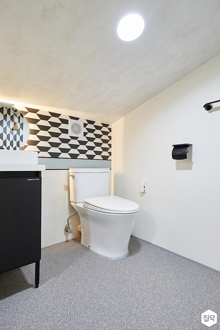 화이트,그레이,내추럴,심플,욕실,원형직부등,간접조명,세면대,수납장