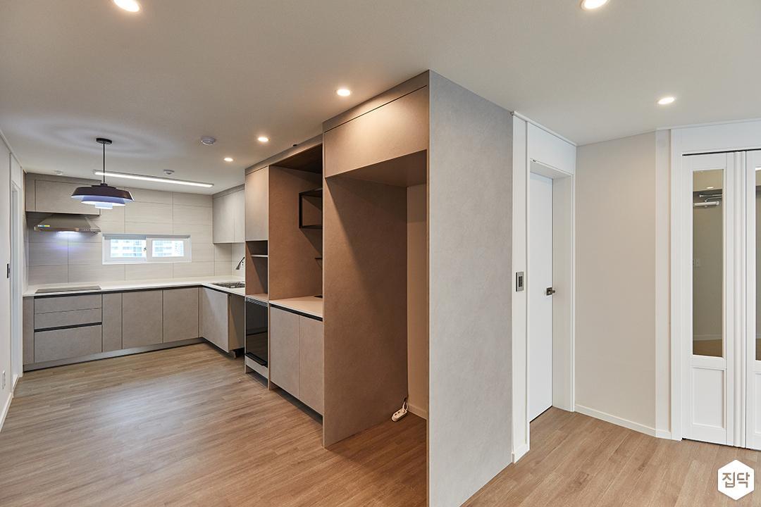 화이트,그레이,모던,주방,매립등,다운라이트조명,냉장고장