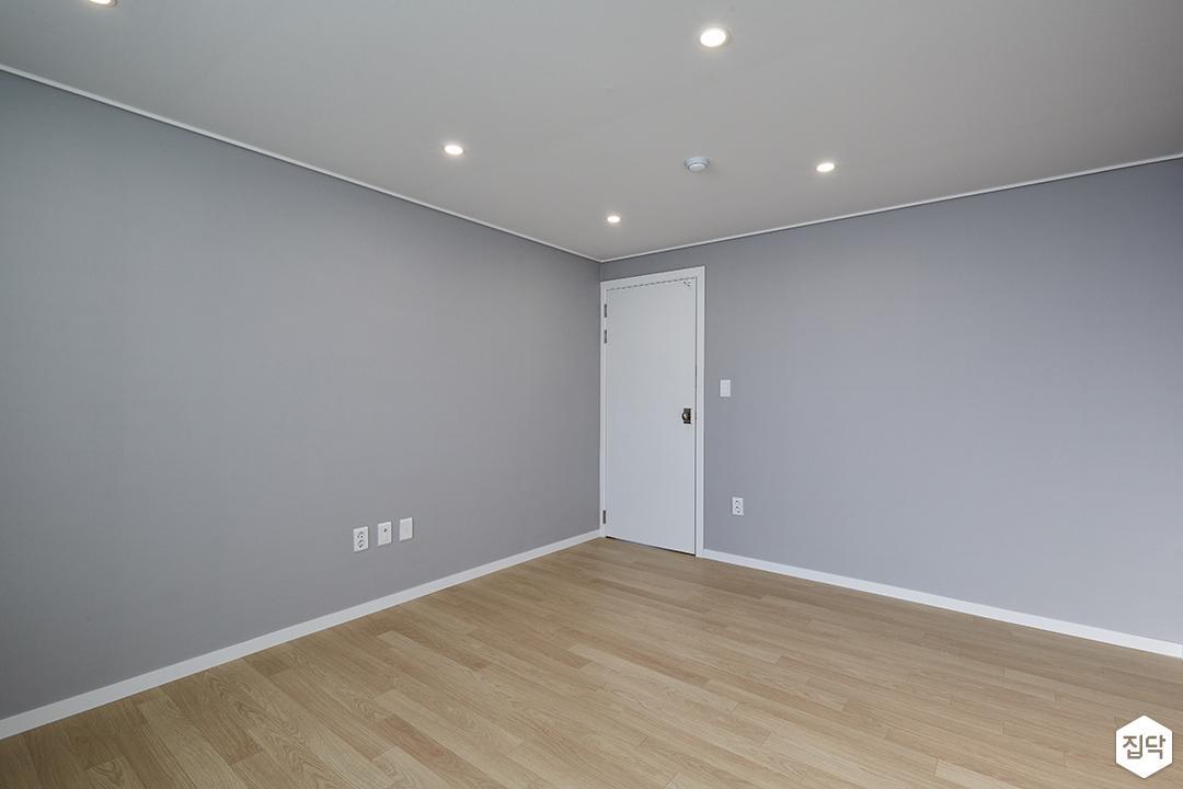 그레이,모던,심플,방,원목마루,매립등,다운라이트조명