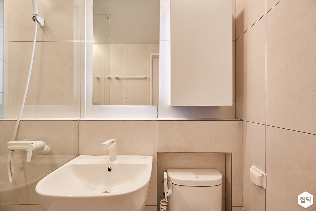 그레이,그린,내추럴,심플,욕실,세면대,수납장,거울