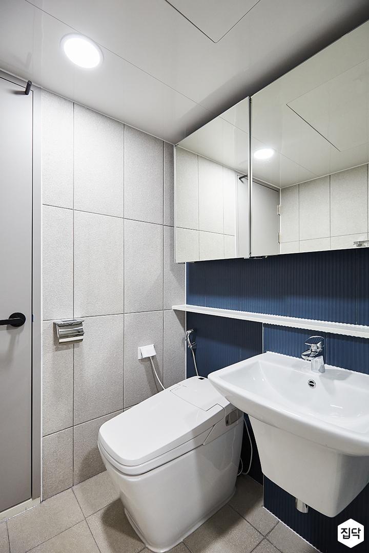 그레이,블루,모던,심플,욕실,세면대,수납장,거울