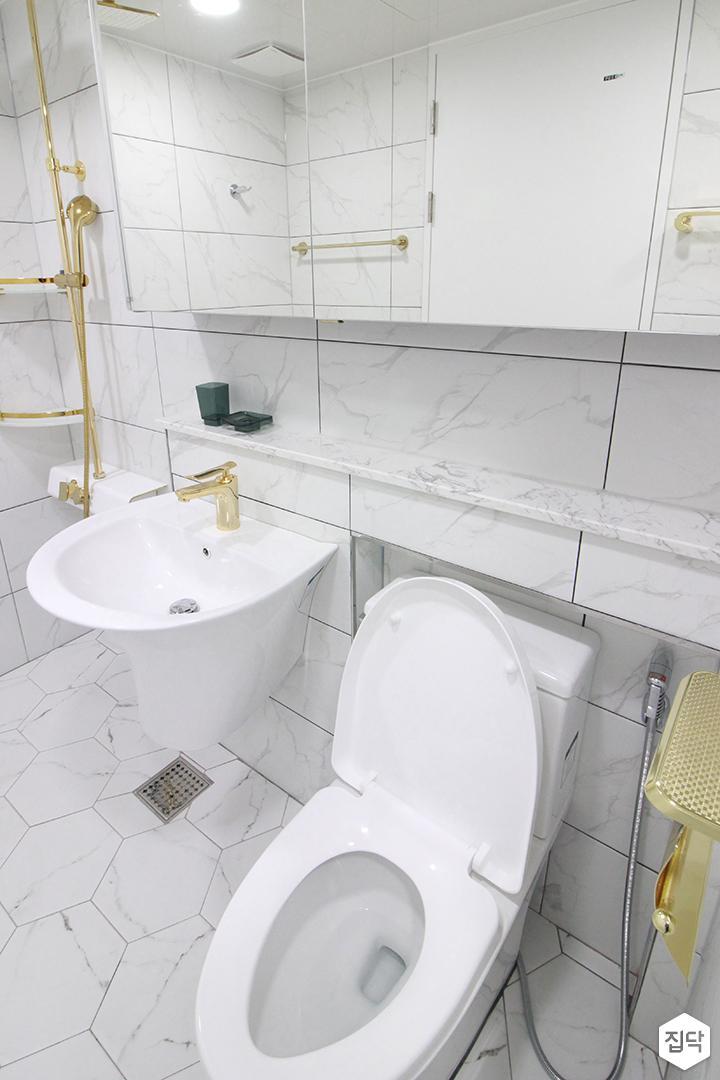 화이트,골드,내추럴,심플,욕실,세면대,수납장,거울