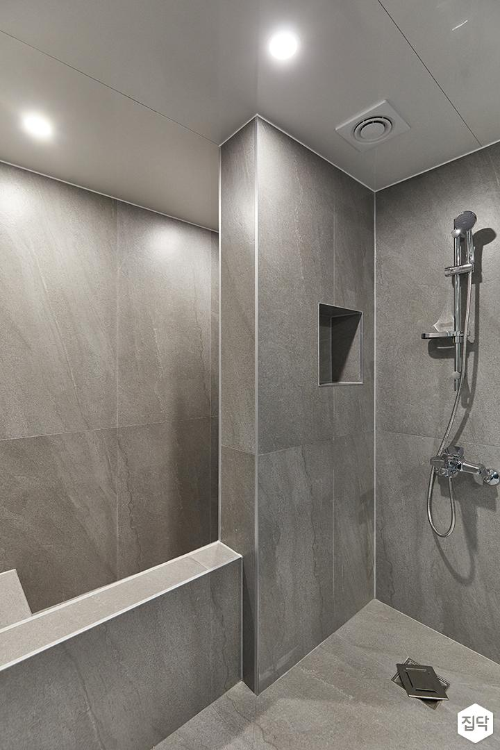 그레이,모던,뉴클래식,욕실,포세린,욕조,샤워기