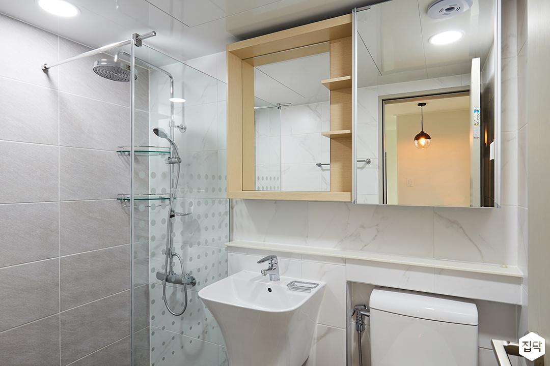 샤워부스,젠다이,선반,욕실,그레이,모던