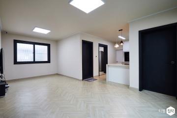 40년 된 주택의 재탄생! 18평,블랙,내츄럴,주택,동대문구,장안동,단열,아일랜드식탁,헤링본장판,화이트