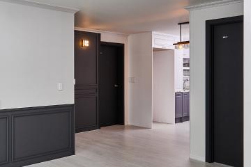젊은 신혼 부부가 직접 스타일링한 30년된 아파트 반복패턴,서브웨이패턴,스타일포인트,특별한조명,낡은집,오래된건물,철거후올수리,이유있는변신,로맨틱신혼집,신혼부부,28평,그레이,모던,아파트,인천시,부평구
