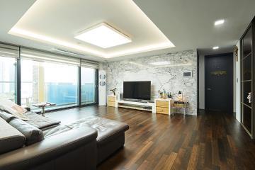 넓은 공간 알차게 활용한 40평대 4BAY 아파트 고풍스러운,요즘뜨는지역,개발도시,살기좋은지역,집값오르는인테리어,고급소재,불편함없이,널찍한주방,대면형주방,대가족,분당,판교,49평,운중동
