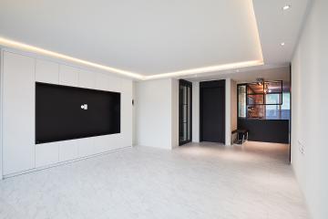 블랙 앤 화이트, 30평대 아파트 모던 인테리어