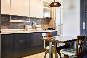 그레이로 따뜻한 감성 담은 20평대 아파트 인테리어 맞춤장설치,생활패턴에맞춘,실용성중시,맞춤시설제작,쾌적함을위해,좁은집을넓게,불편함없이,부천시,중동,21평,그레이