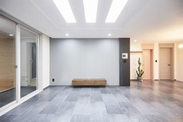 독특한 자재 사용으로 차별화된 공간, 31평 신혼집 인테리어 31평,그레이,모던,아파트,안양시,비산동