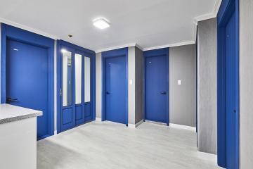 문 색상 하나 바꿨을 뿐인데..24평 아파트 인테리어 24평,그레이,블루,인천,서구,가정동,아파트