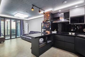 블랙과 그레이로 스타일리시하게 연출한 20평대 아파트 블랙,그레이,아파트,서울,서대문구,북아현동,두산아파트