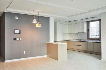 화이트와 우드톤의 조합, 인천 청라 43평 아파트 인테리어 43평,화이트,아파트,모던,내츄럴,인천