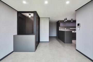 블루와 그레이로 차분하게 연출한 20평대 아파트 인테리어 아파트,24평,그레이,인천,계양구,작전동,서보한마음아파트,아파트인테리어