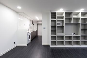 블랙&화이트로 감각적인 스타일링, 22평 아파트 인테리어 22평,모던,화이트,블랙,아파트,광진구