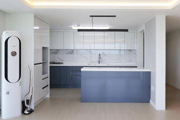 화이트와 블랙의 조합으로 완성된 모던 심플, 42평 아파트 인테리어 42평,화이트,블랙,심플,모던,계양구,이화동