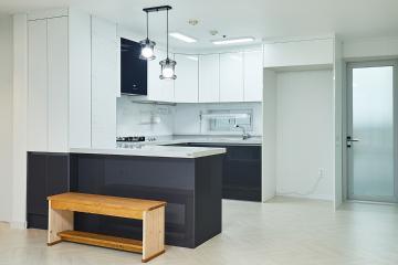 쉐브론 패턴으로 생기를 불어넣은 34평 아파트 인테리어 34평,화이트,모던,아파트,경기,의정부시